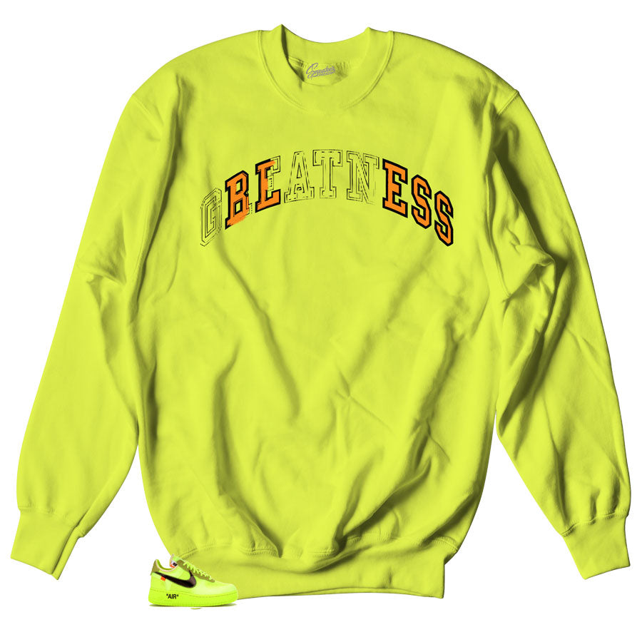 Volt Crewneck Sweater made matching Air Force One the 10 Volt Sneakers.