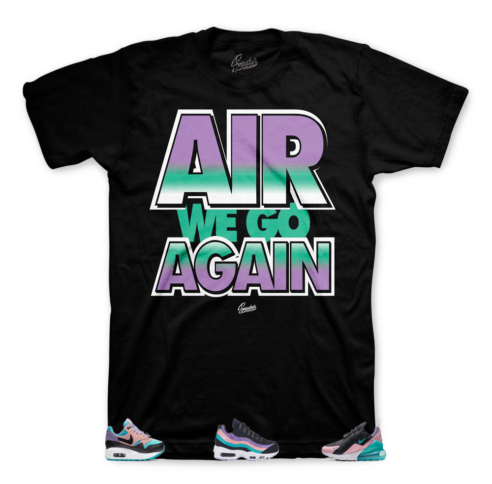 Have a nike day official matching sneaker tees and shirts.