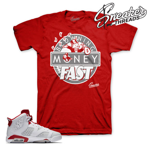 Alternate Jordan 6 shirts match retro 6 alternate shoes.