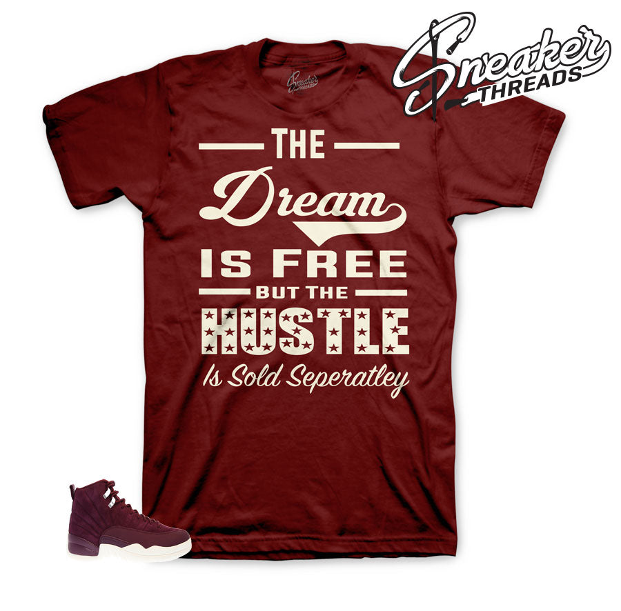Tees match Jordan 12 bordeaux retro 12's | Official matching tees.