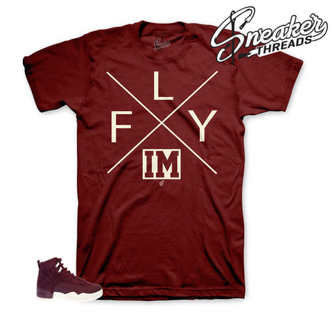 Shirts match Jordan 12 bordeaux | Clothing match retro 12.