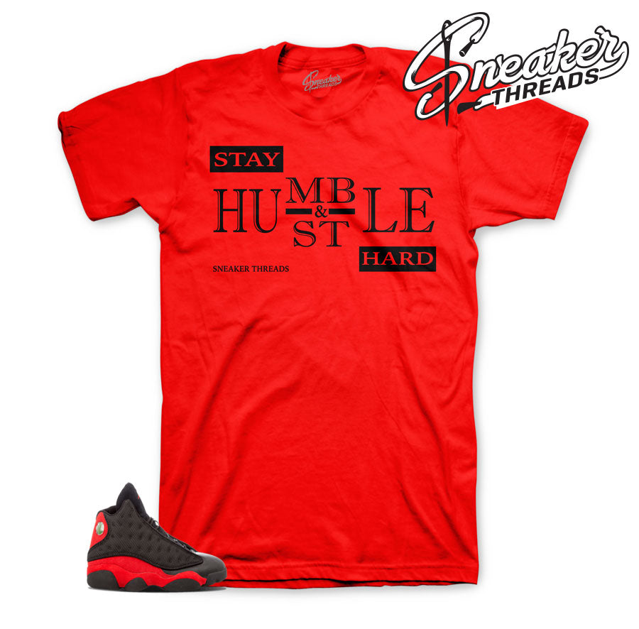 Bred 13 sneaker tees match Jordan shoes.
