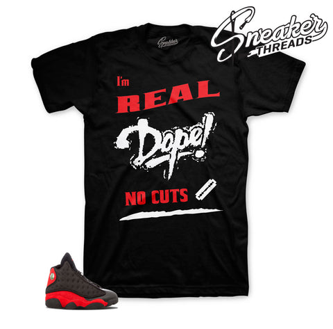No Cuts sneaker tee | Jordan 13 bred tees match sneakers.