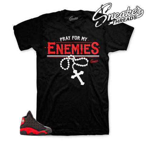 Enemies sneaker tee | Jordan 13 bred tees match shoes.