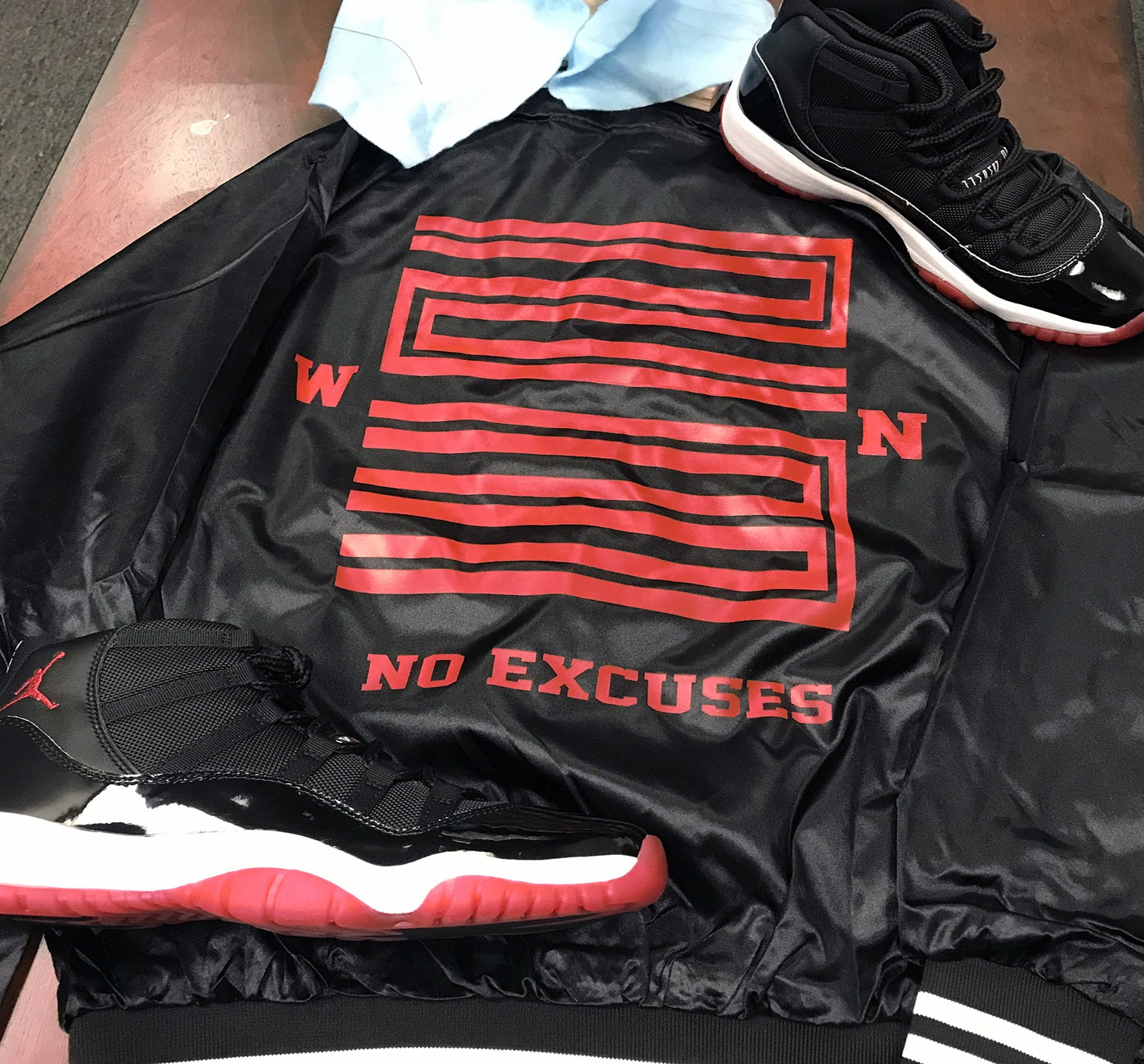 Jordan 11 Bred WIN 23 Satin Jacket