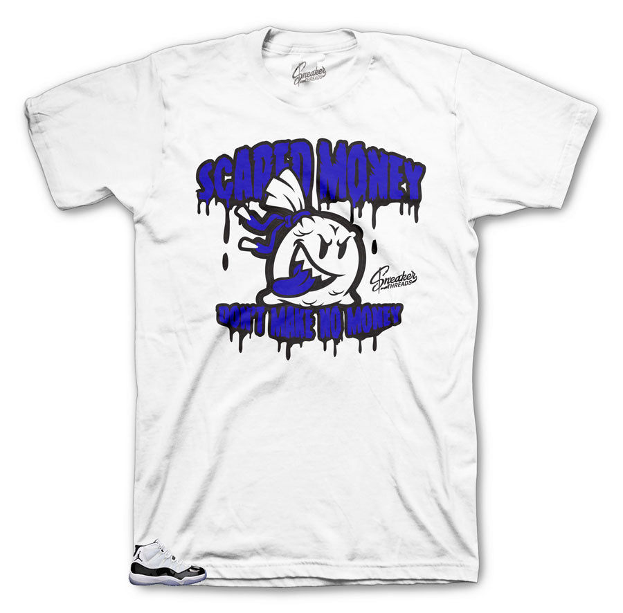 a75d2a46255586 Home Jordan 11 Concord Scared Money Shirt. Share