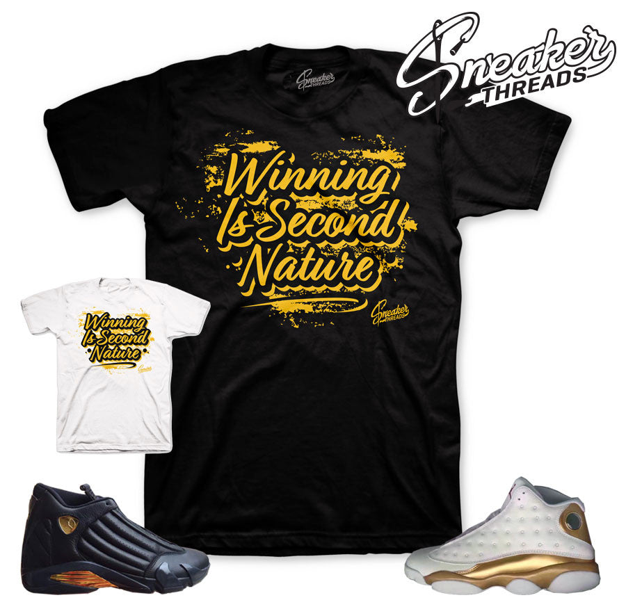 Jordan DMP shirts match retro 13 and 14 sneakers pack.