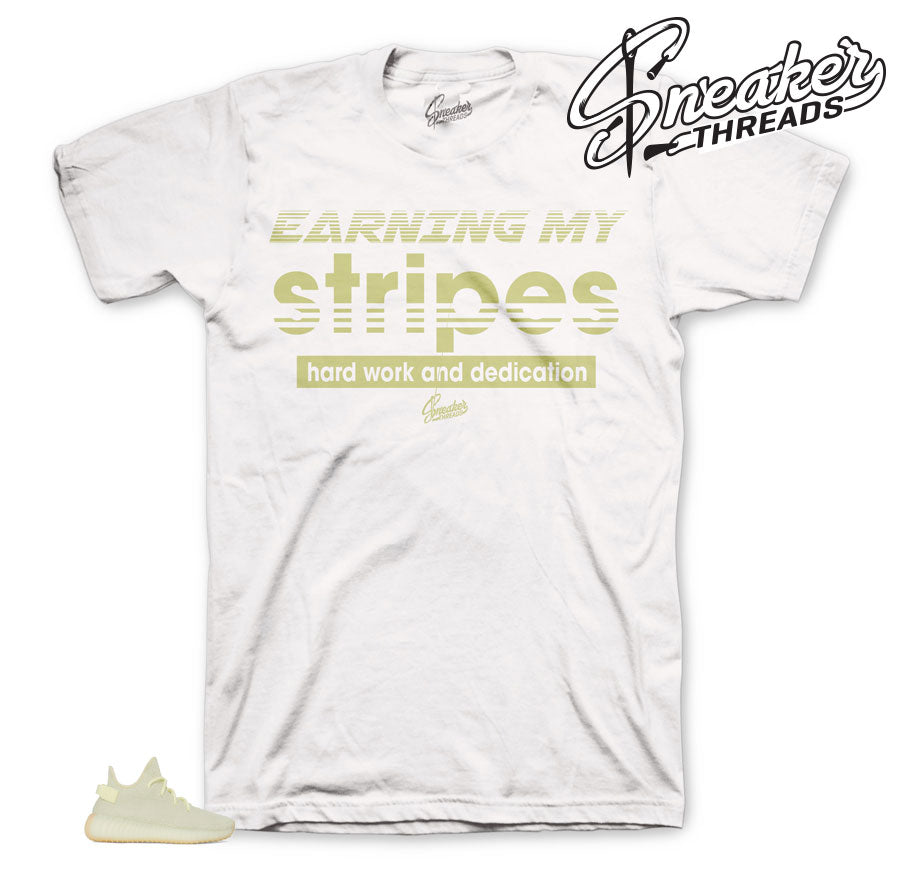 Yeezy Butter Stripes matching Tee