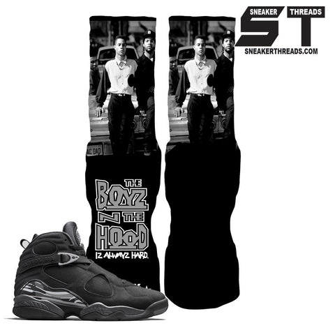 Socks to match Jordan 8 chrome black. Skull bully elite socks.