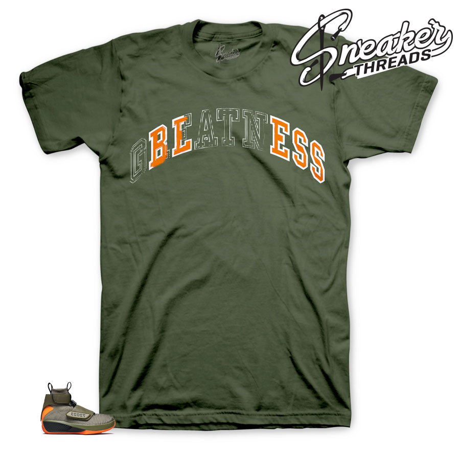 Stitched Bless shirts in olive to match Flyknit 20's