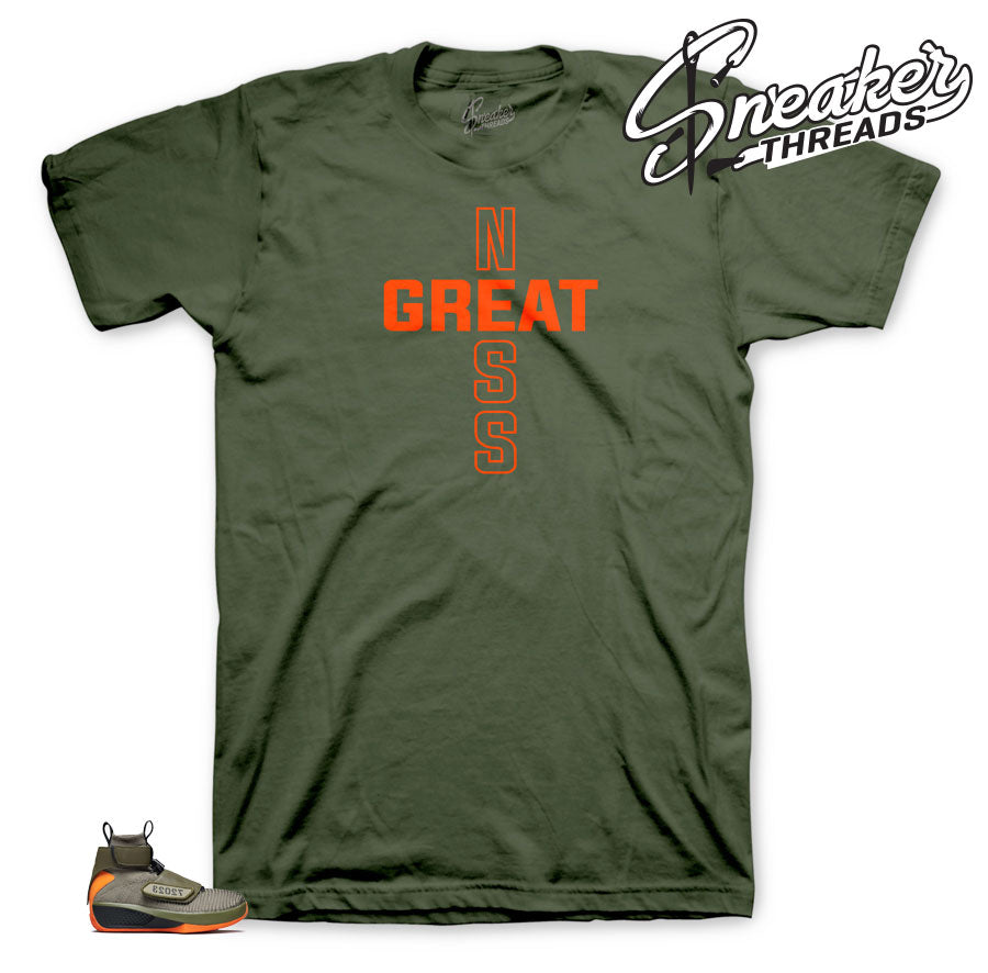 Olive shirts to match with Jordan 20 Flyknit