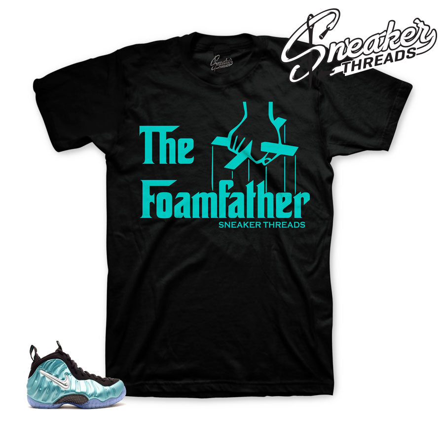Foamposite island green shirt | official sneaker tee.