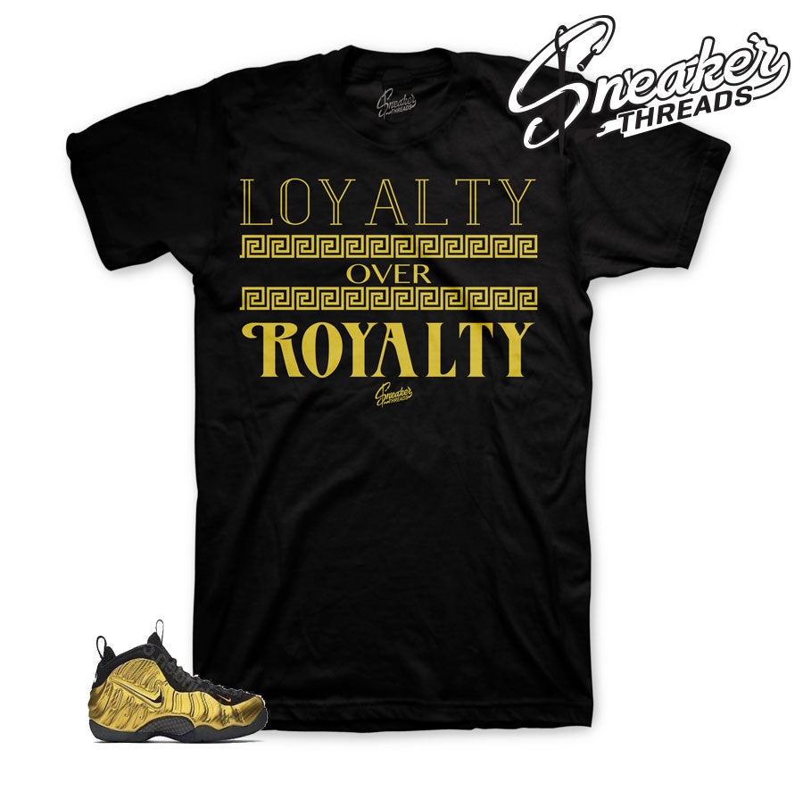 Fomaposite metallic gold shirts | Win sneaker apparel and tees.