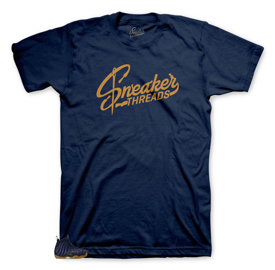 Classic tee matches sneaker Foamposite midnight navy collections