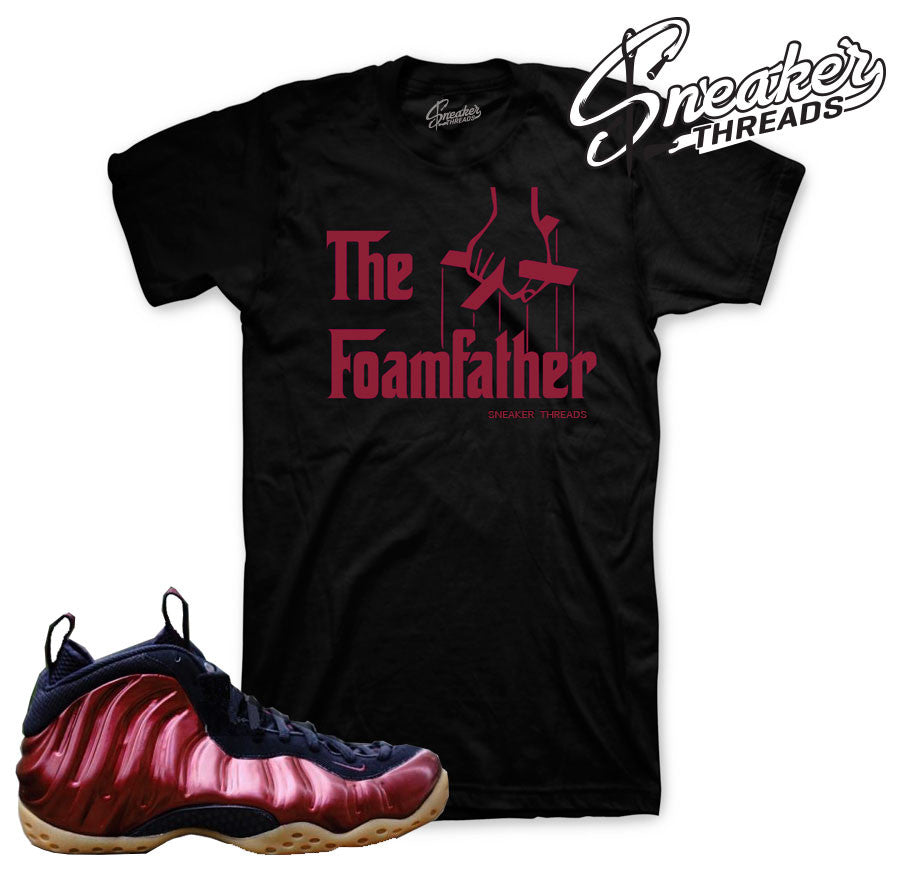 Shirts match fomaposite maroon shoes. Foamfather tee.