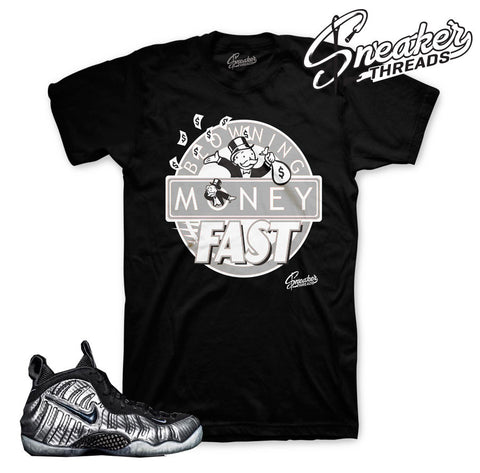 Foamposite silver surfer shirts match foam shoes.
