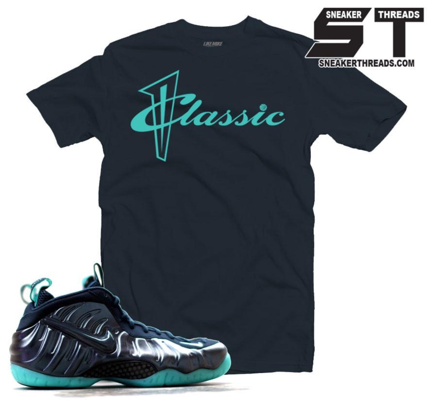3c2b55ddbadab6 Shirts to match Foamposite aqua dark obsidian foam tees shirts.