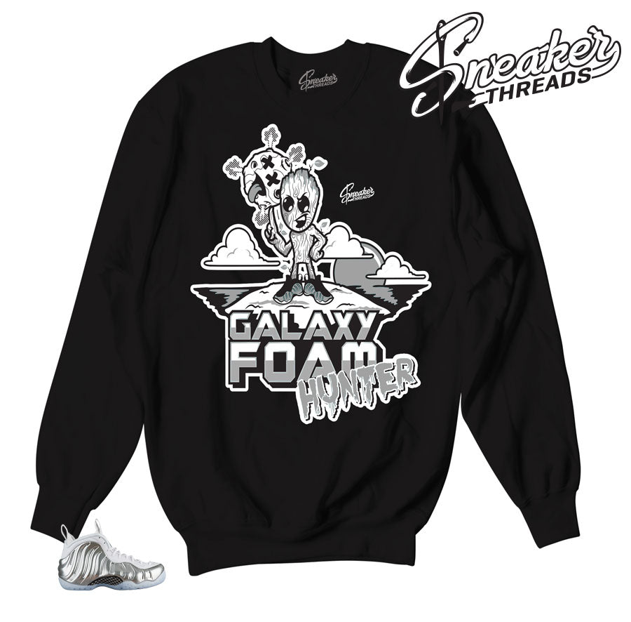 Foampoiste chrome sweater match foam | Chrome foam crewnecks.