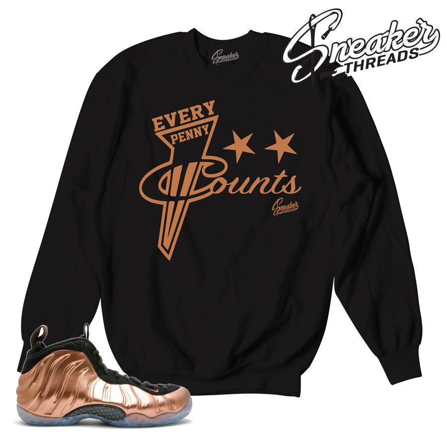 Sweaters match foamposite copper foam copper sweatshirts.