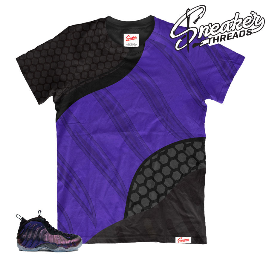 Foamposite eggplant all over print shirt to match foams.