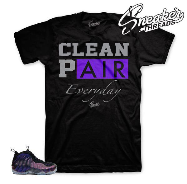 Foam eggplant tees match foamposite eggplant shoes perfectly.