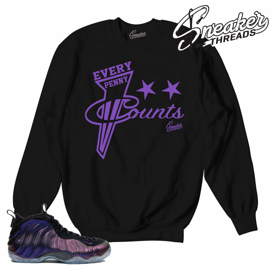 brand new 02fb4 3fc5e Foamposite Eggplant Every Penny Sweater