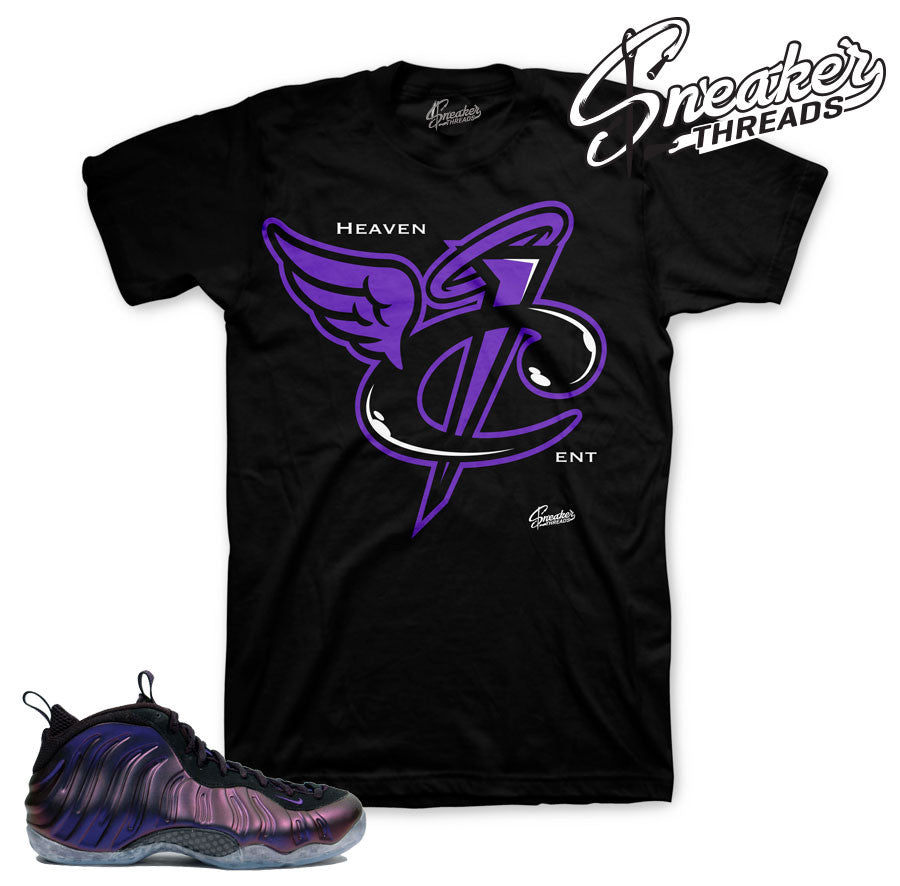 Eggplant foamposite tee match foam purple shirts.