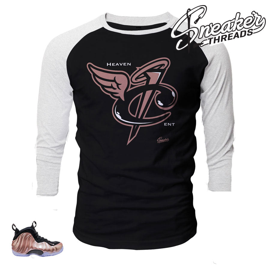 Raglan shirt match foamposite elemental rose foams.