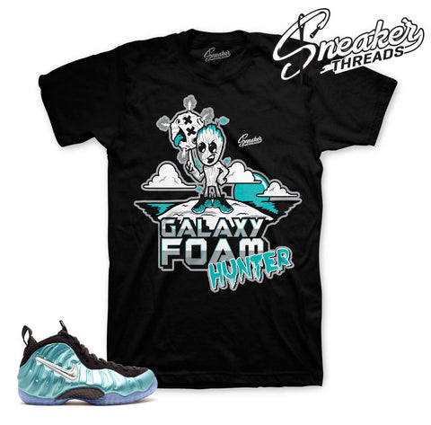 Shirt match foamposite island green foam tee.