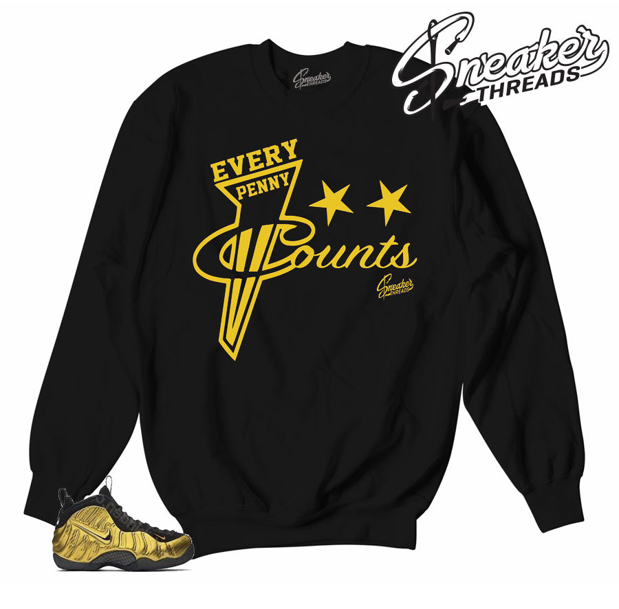 Sweaters match foamposite metallic gold sneakers | Sneaker crewnecks.