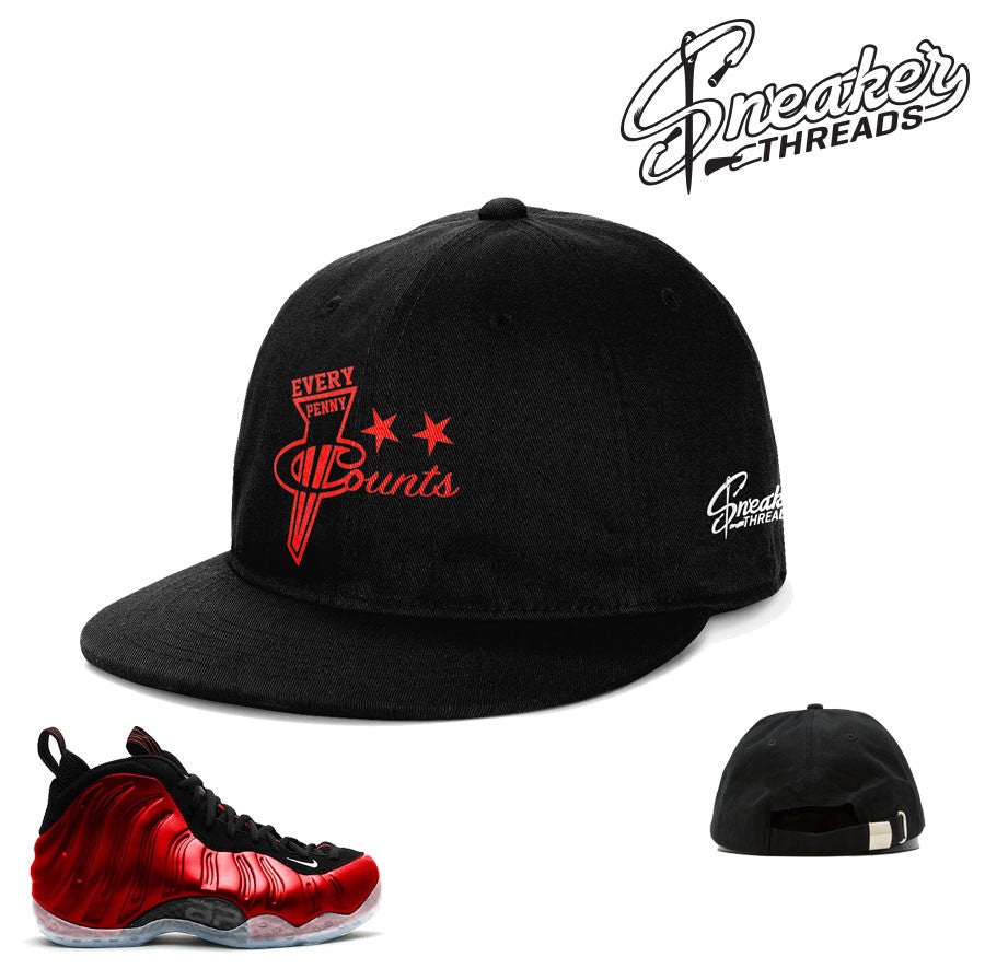 Foamposite metallic red hat match foam red dad hats.