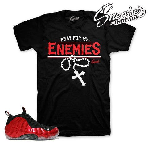 Foamposite metallic red shirts match | sneaker shirts match