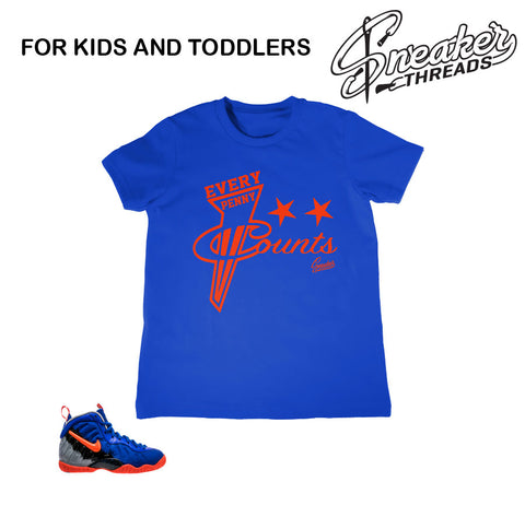 Kids foamposite nerf tees match foam sneaker shirts.