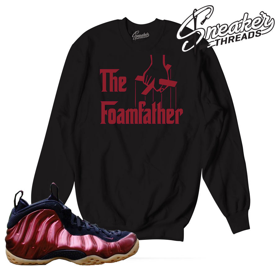 Foamposite night maroon sweaters match foams. Fresh sneaker crew.