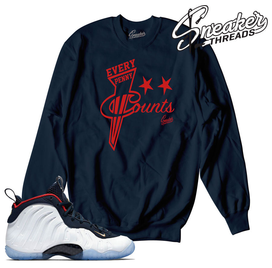 Foamposite olympic sweaters match foam olympic crewnecks.