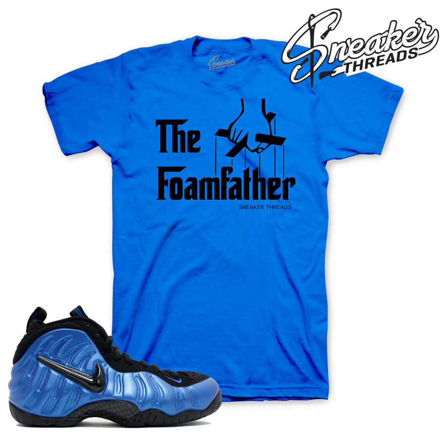 Foamposite pro royal tees match foam varsity blue royal shirts.