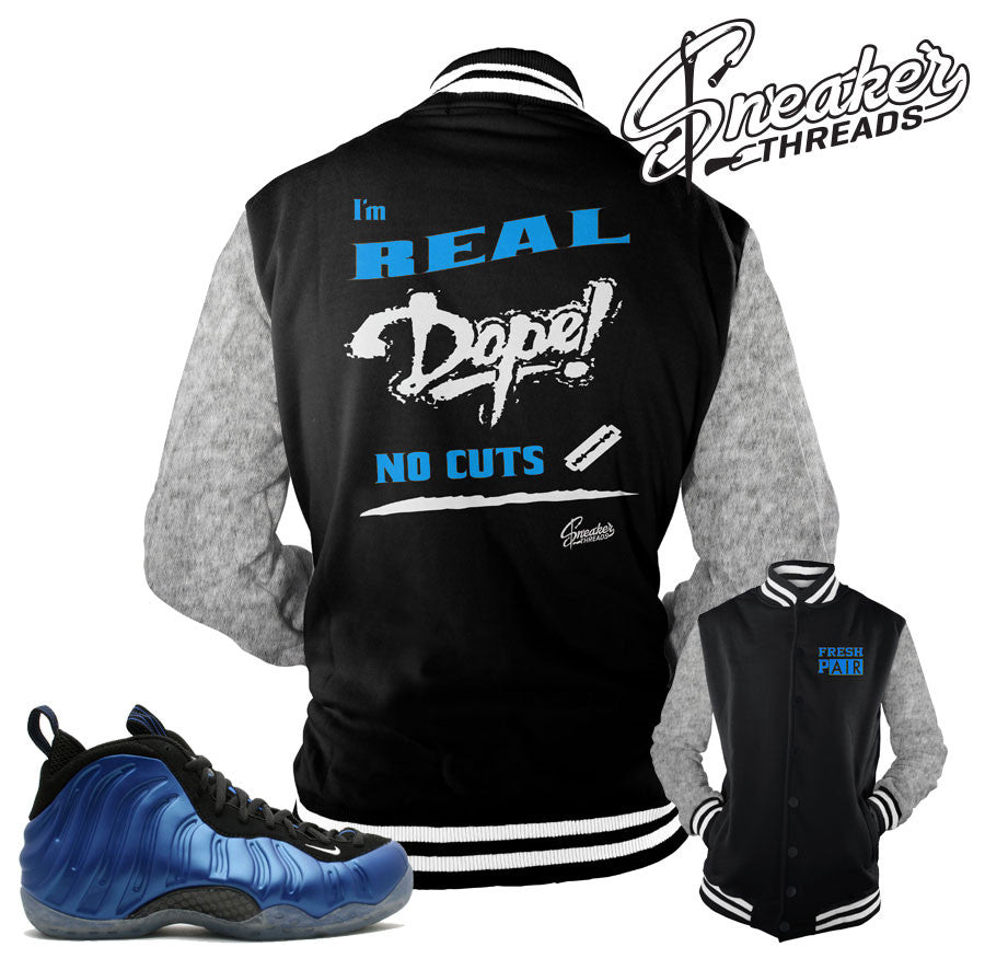 Jackets match foamposite one royal foam sneaker jacket.
