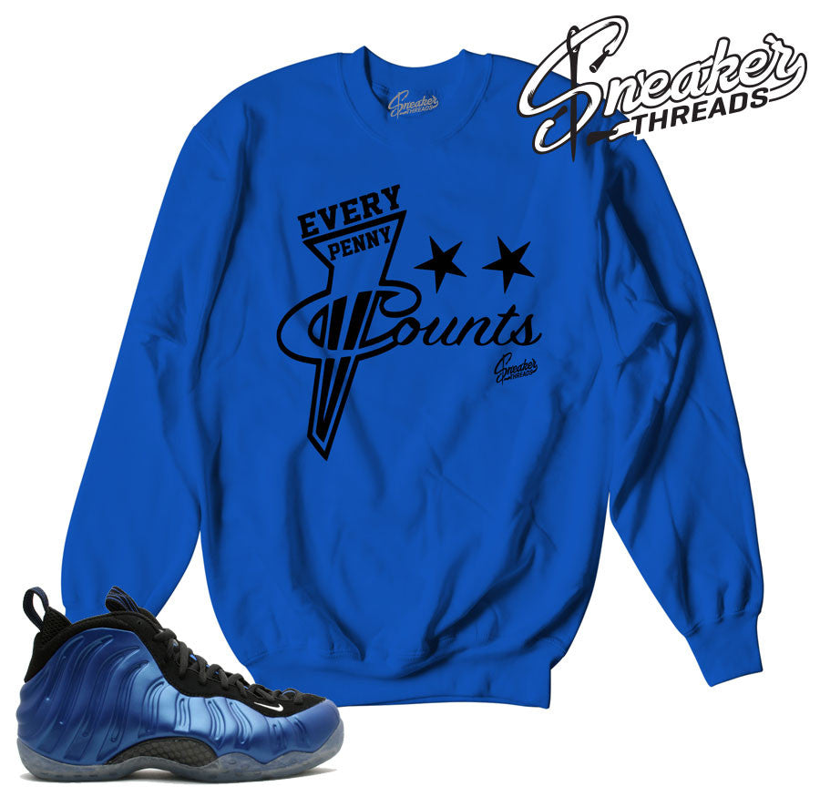 on sale 9006b 411c9 Home Foamposite Royal Every Penny Sweater. Share