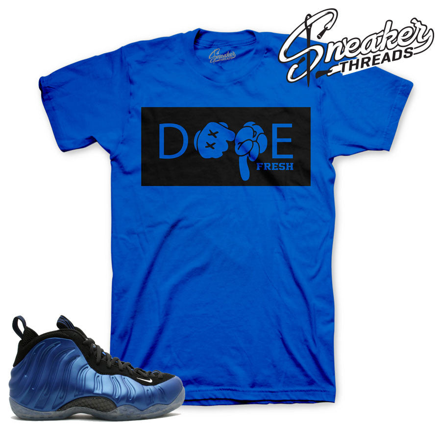 Match foamposite one royal tees foam sneaker shirts.