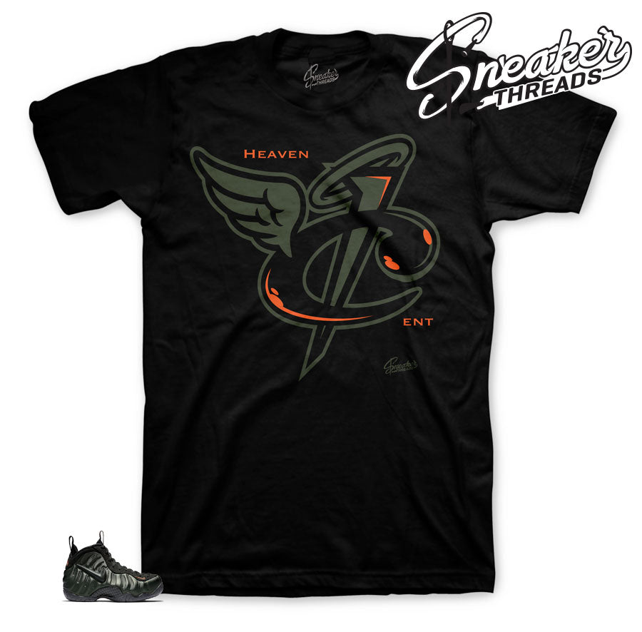 Foamposite sneaker tees match Sequoia foam shoes.