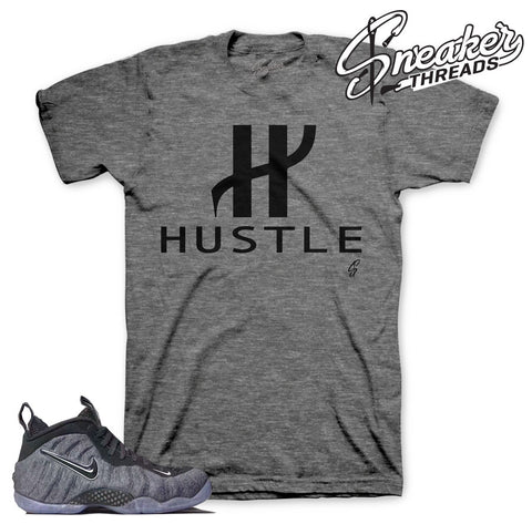Foamposite tech fleece tee match foam wool sneakers.