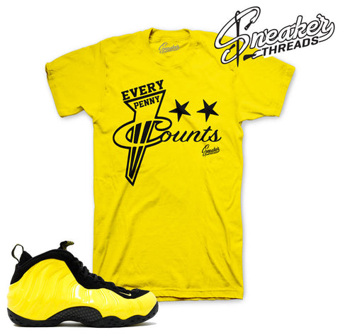 Shirts match fomaposite optic yellow wu tang foams.