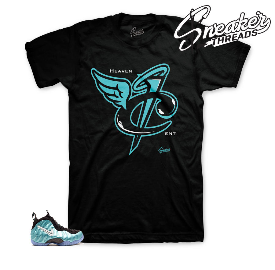 Foamposite island green shirt | Heaven cent sneaker tee.