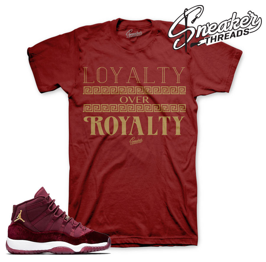 Tees match Jordan 11 heiress match retro 11's shirts.