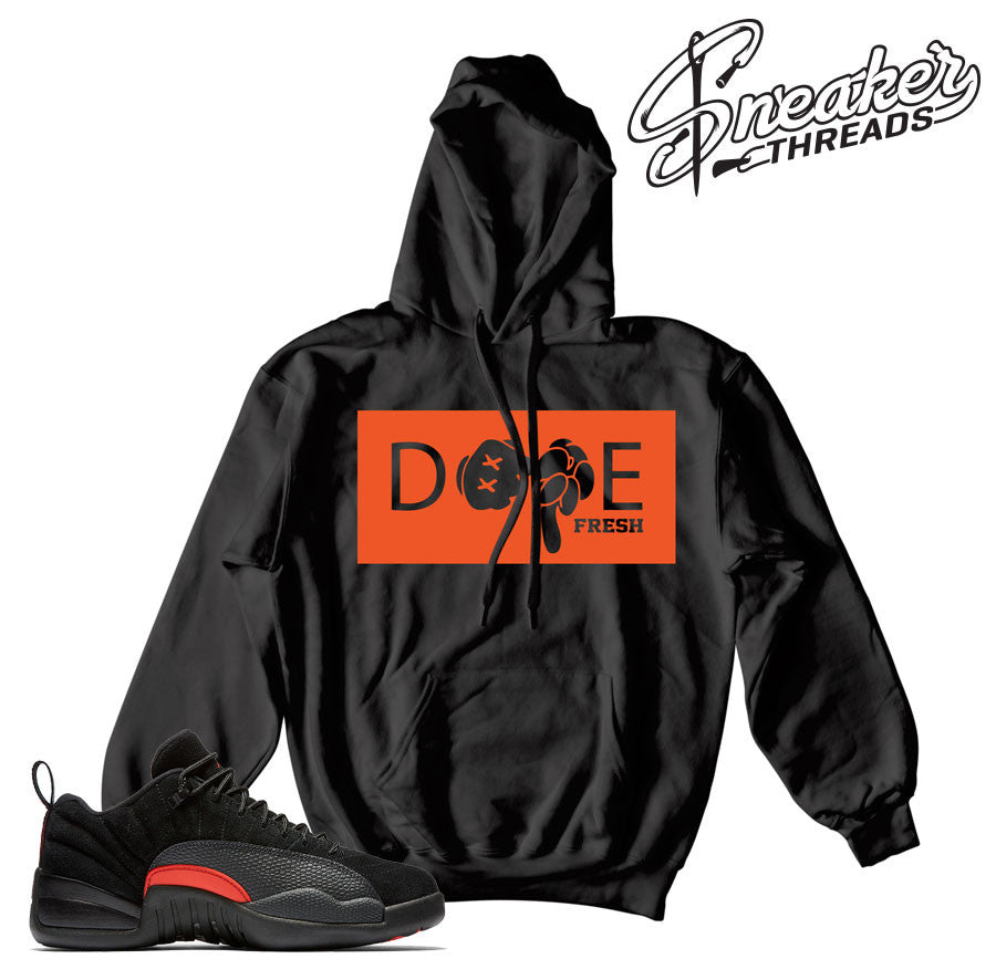 Jordan 12 max orange hooded sweatshirts match retro 12.