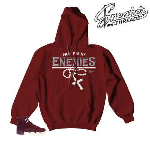 Jordan 12 bordeaux hoodies | Matching retro 12 hoodies and sweaters,