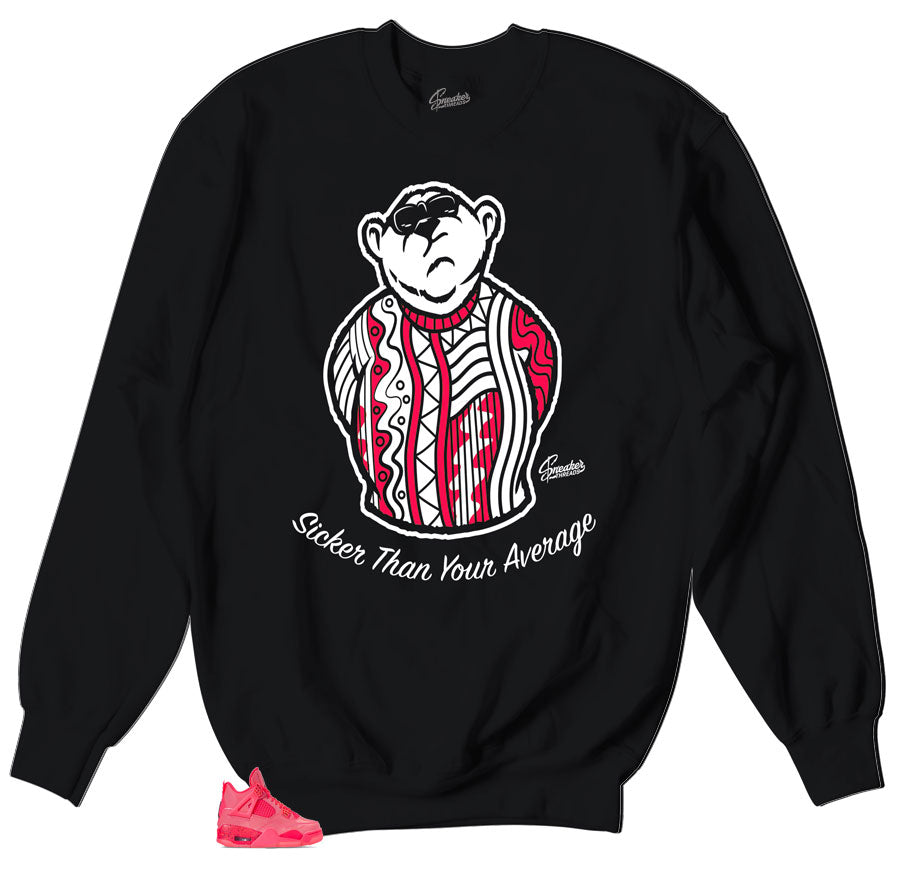 Jordan 4 Hot punch sneaker matches crewneck sweater collection designed to match Jordan 4 hot punch shoes
