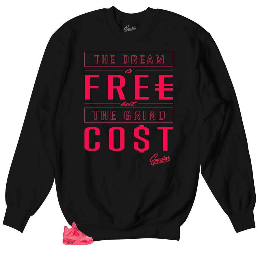 Hot Punch Jordan 4 retro sneakers matching sweaters designed to match Jordan 4 retros sneakers