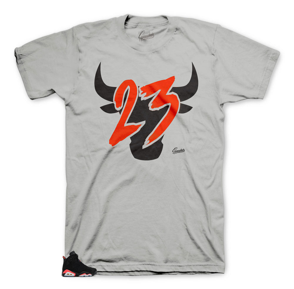 The best sneaker tees match Jordan 6 infrared shoes.
