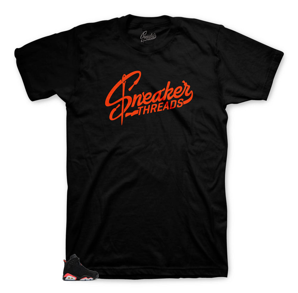 Sneaker tees match Jordan 6 infrared | Sneaker threads infrared.